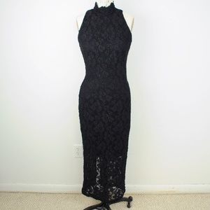 Vintage 90s All That Jazz Maxi Dress Lace